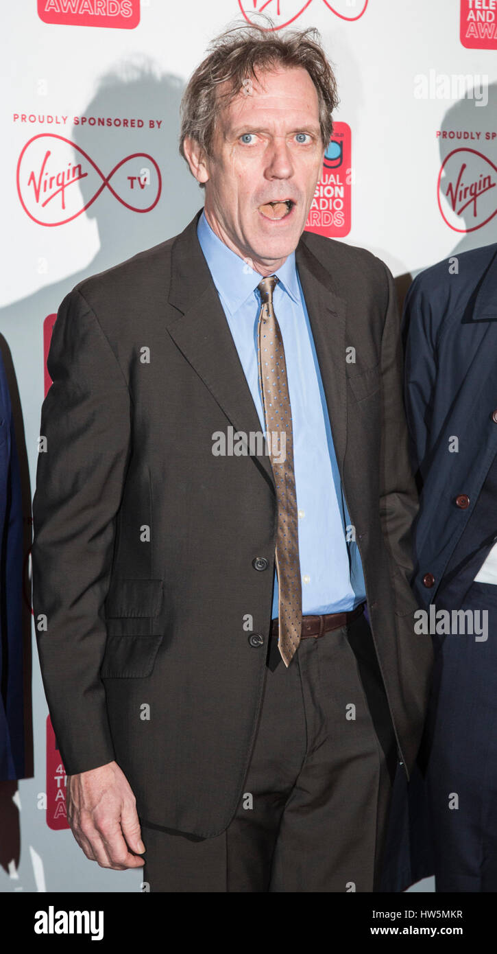 London, UK. 17 March 2017. Hugh Laurie arriving at the Broadcasting Press Guild Awards, sponsored by Virgin TV, - Stock Image