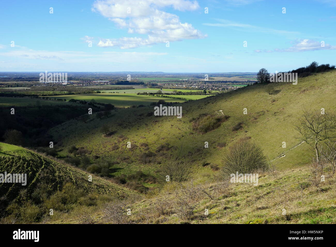 A view from Ivinghoe Hills - Stock Image