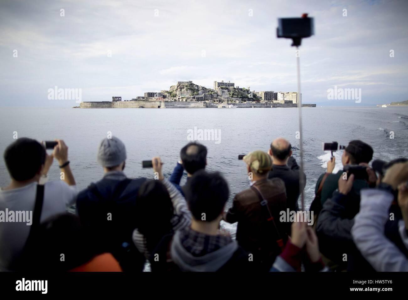 Japan, Kyushu, Nagasaki, Hashima island - Stock Image
