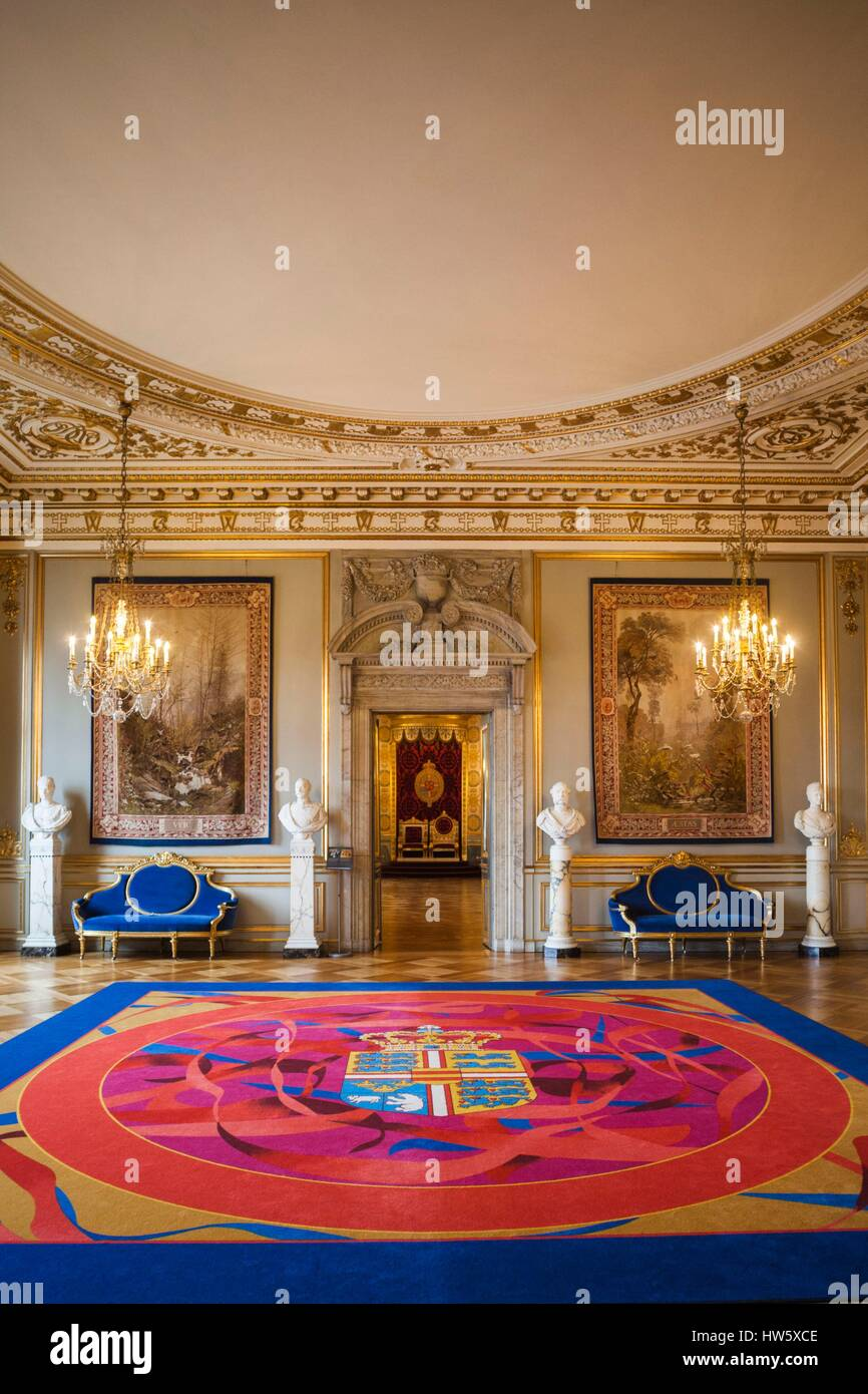 Denmark, Zealand, Copenhagen, Christianborg Palace, interior - Stock Image