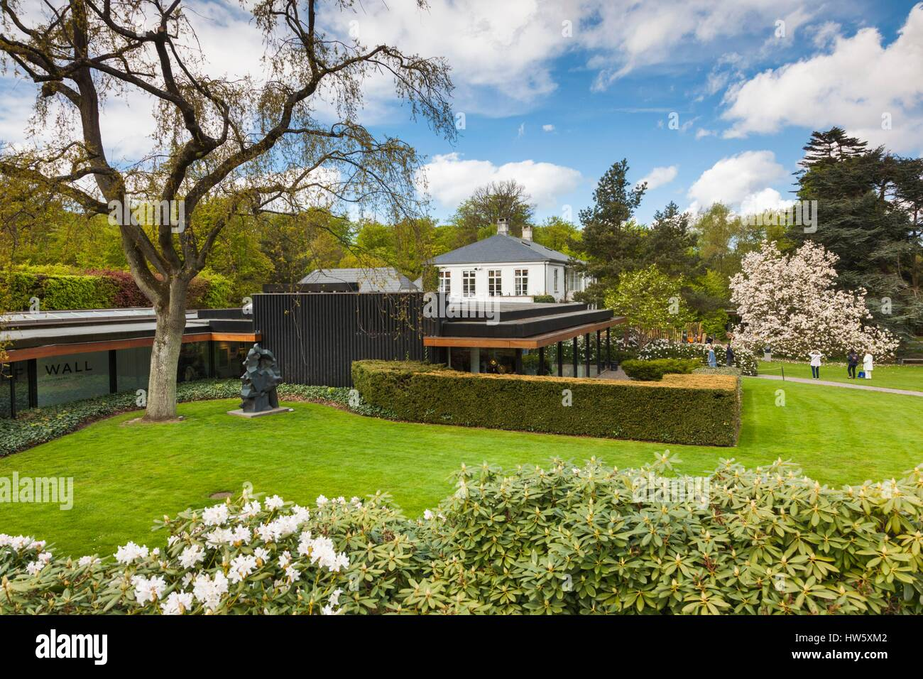 Denmark, Zealand, Humlebaek, Louisiana Museum of Modern Art, sculpture garden - Stock Image