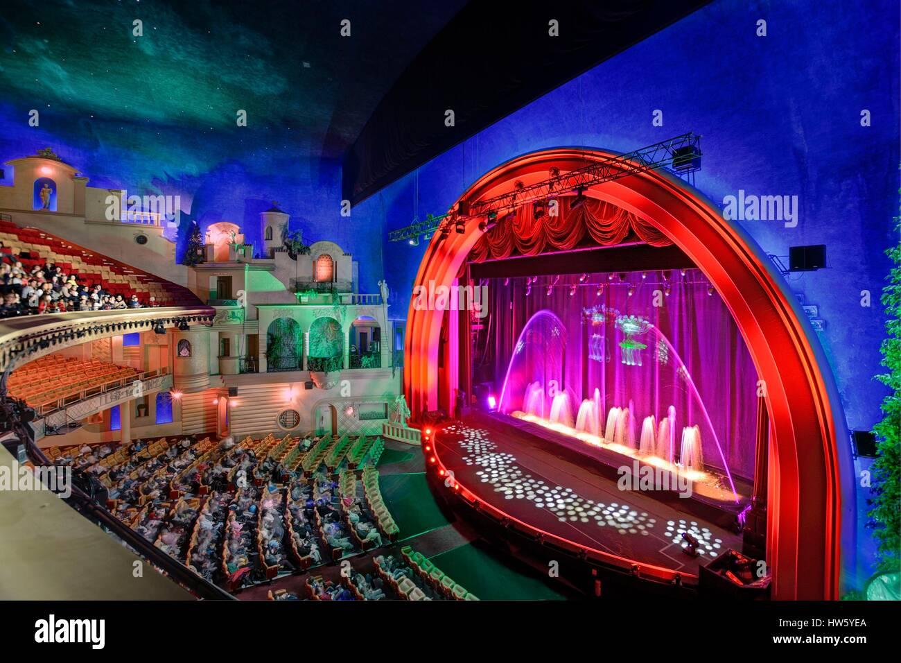 France, Paris, Grand Rex cinema, the aquatic show Stock Photo - Alamy