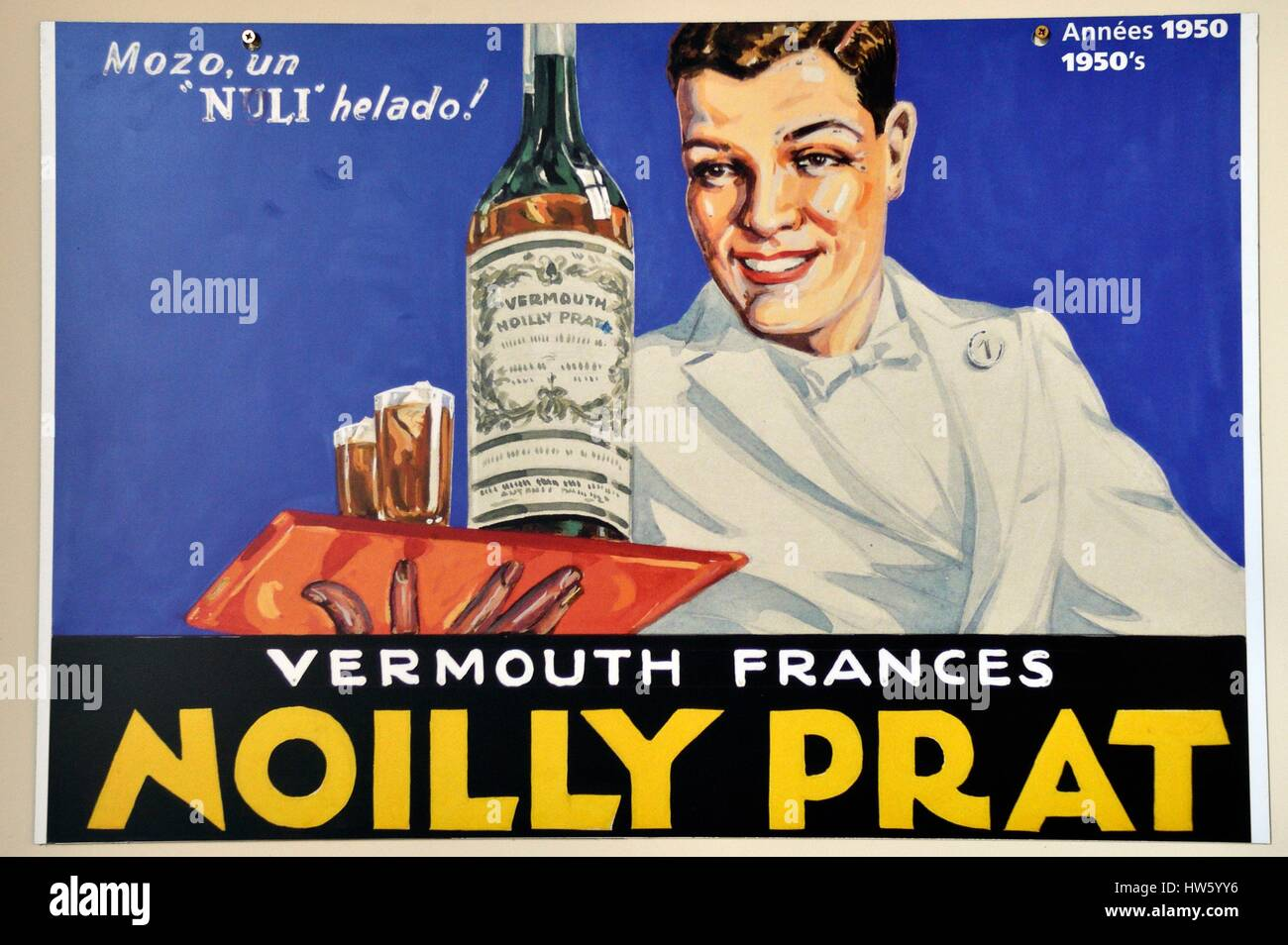 France, Herault, Marseillan, harbour, wine and spirits of Noilly Prat store (19th century vermouth factory), old - Stock Image