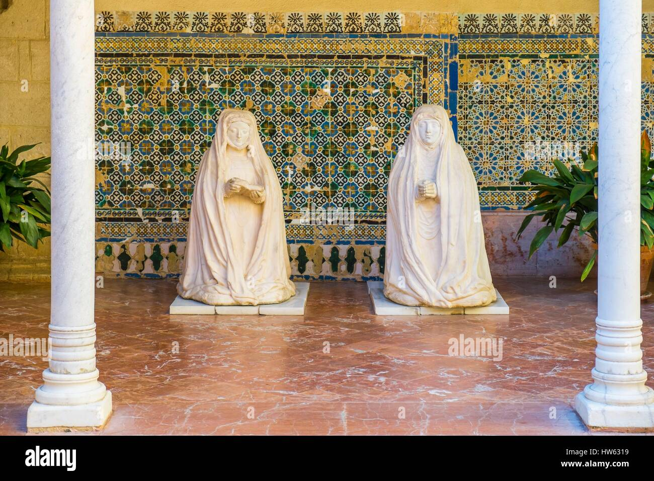 Spain, Andalusia, Seville, Isla de la Cartuja, the Monastery of the Cartuja - Stock Image