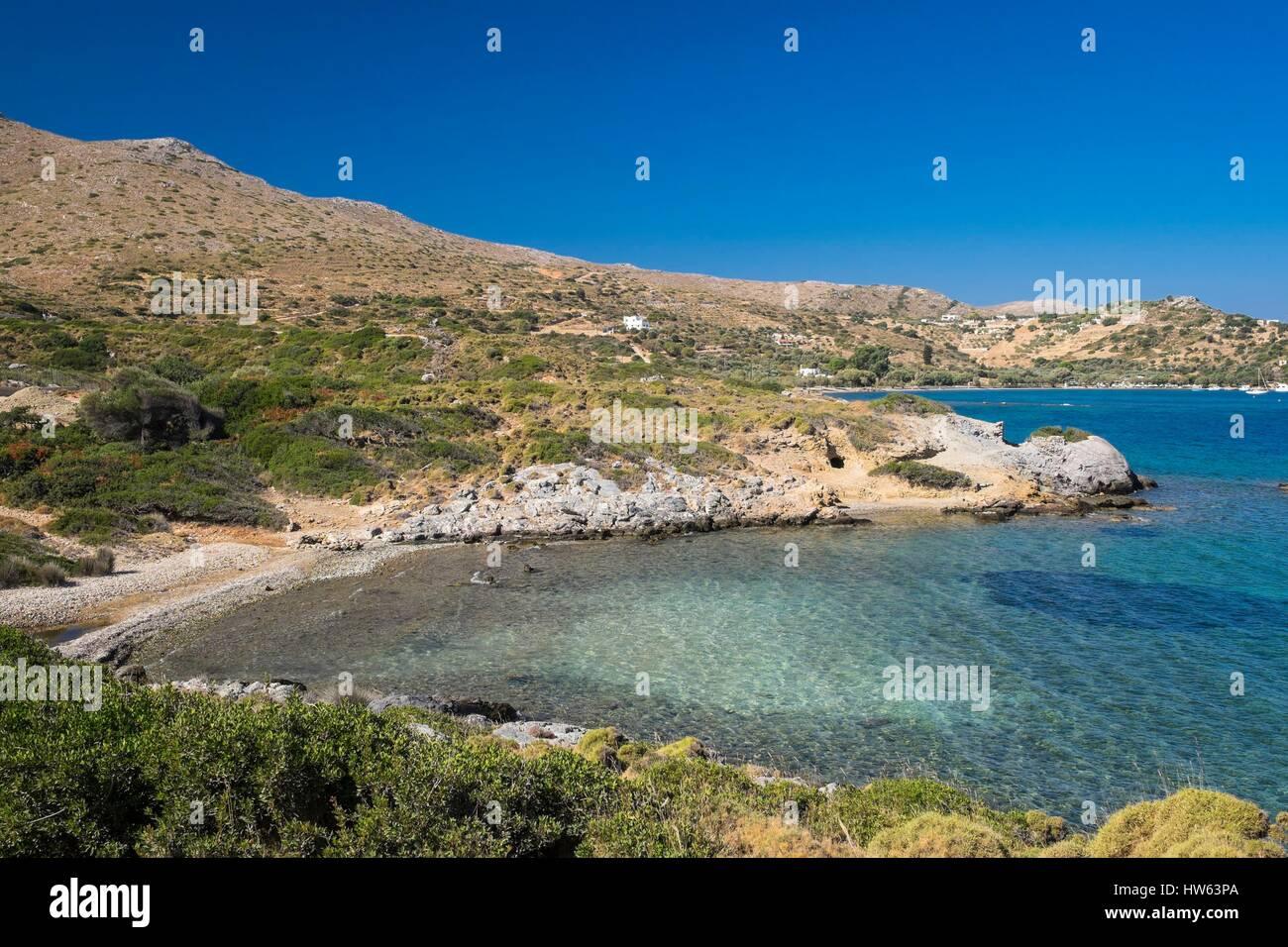 Greece, Dodecanese archipelago, Leros island, Blefouti bay - Stock Image