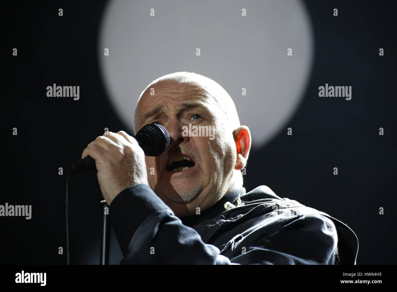 Berlin, Germany, November 9th, 2014: Peter Gabriel performs live on stage during 25th anniversary of the Fall of Stock Photo