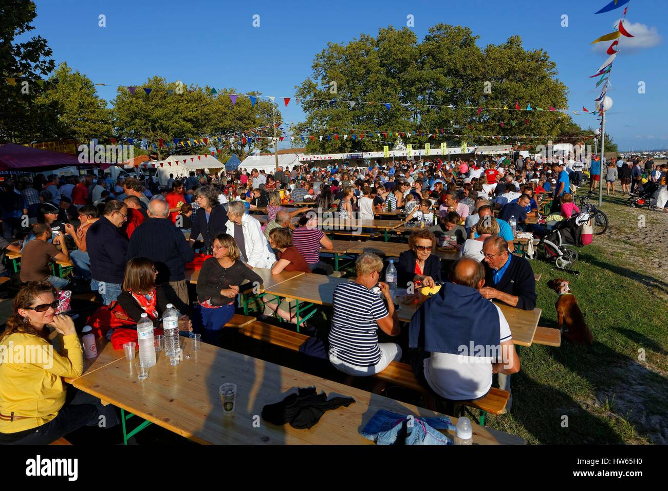 France, Gironde, Bassin d'Arcachon, Ares, Oyster festival - Stock Image