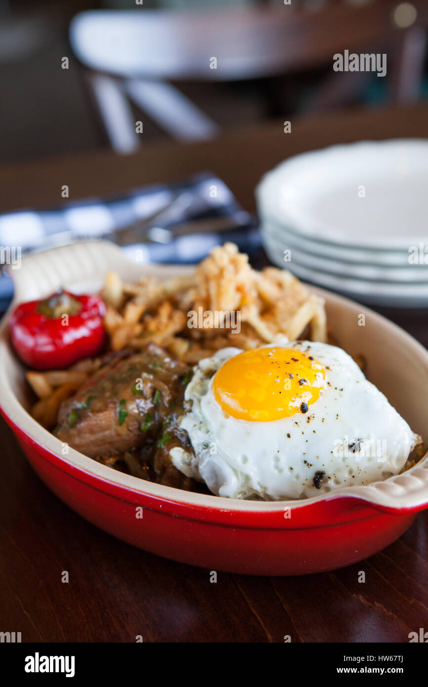Steak and eggs - Stock Image