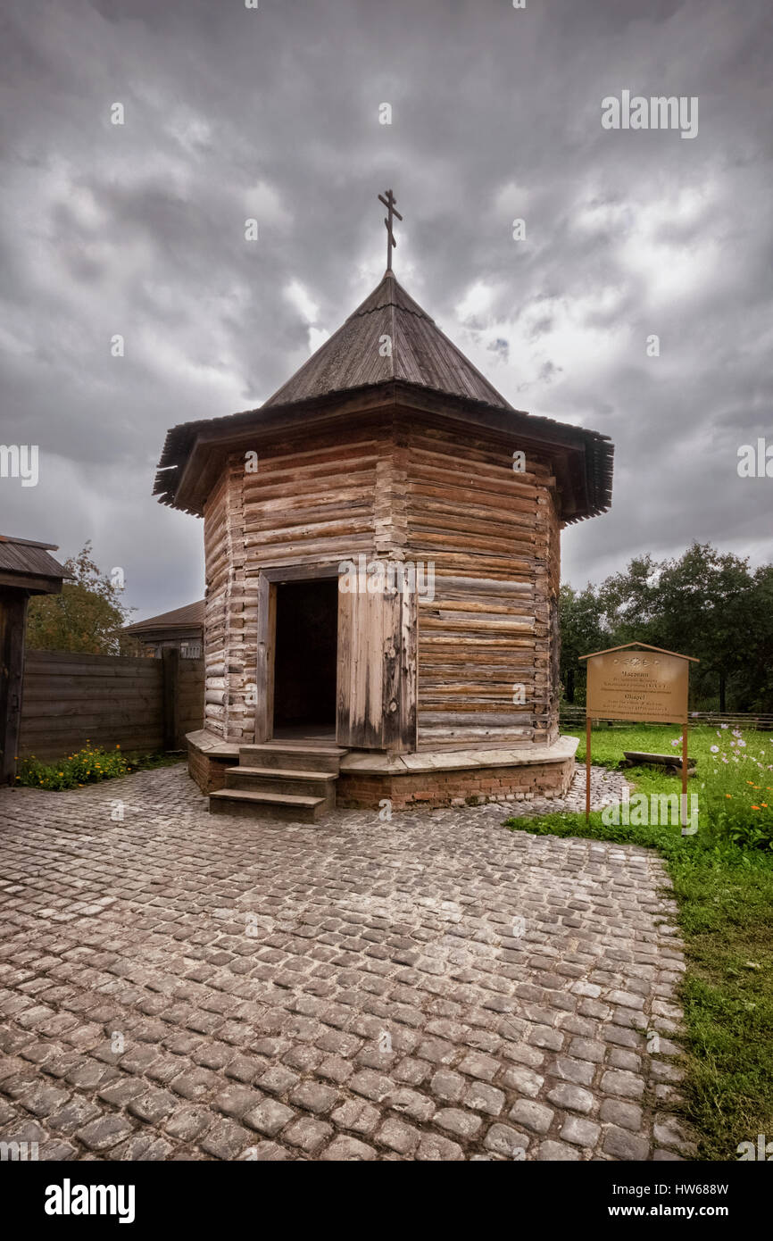 Small wooden Church in Suzdal - Stock Image