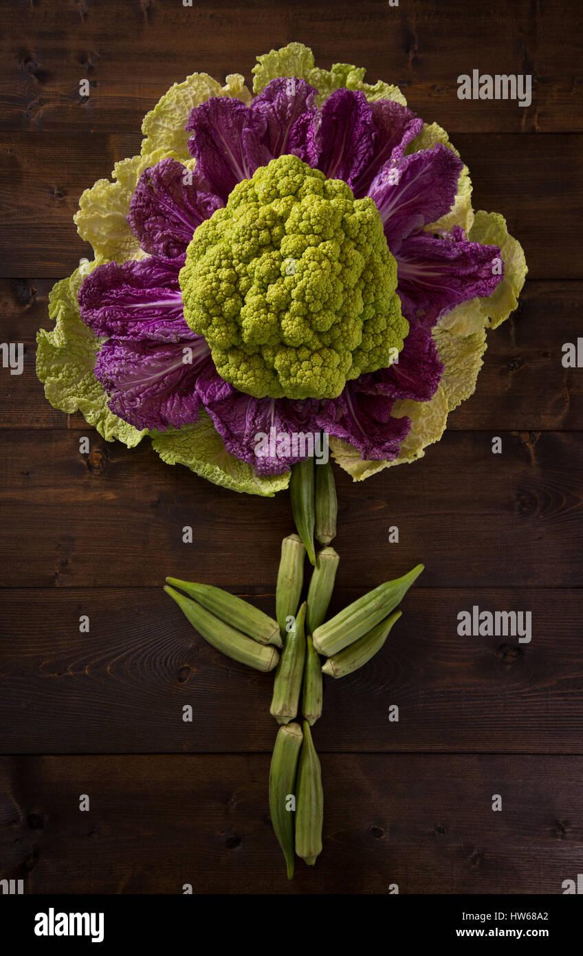 Veggie Flower - Stock Image