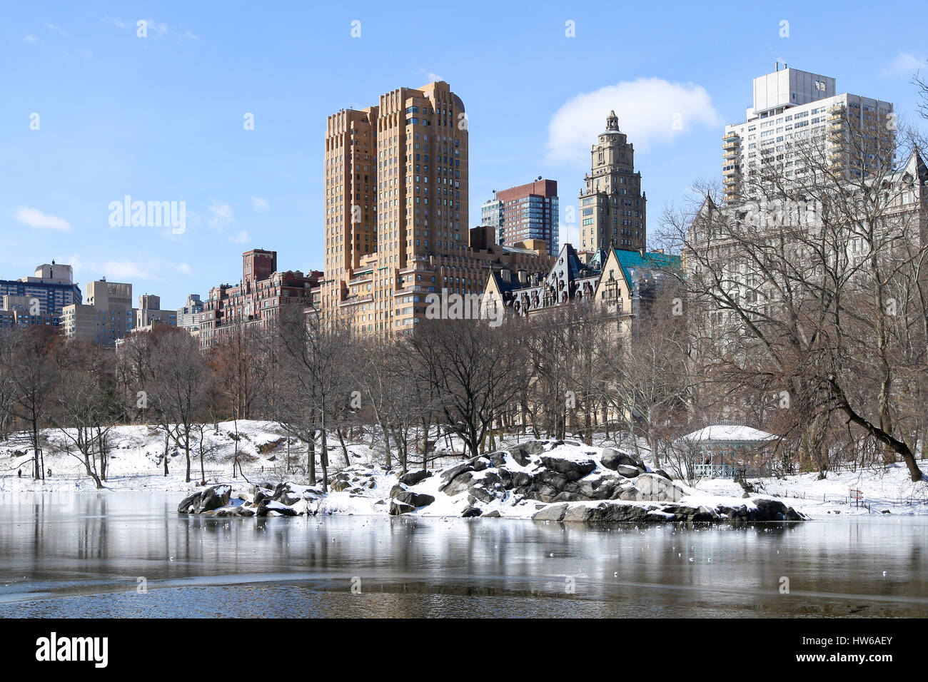 Winter in Central Park, New York, NY - Stock Image
