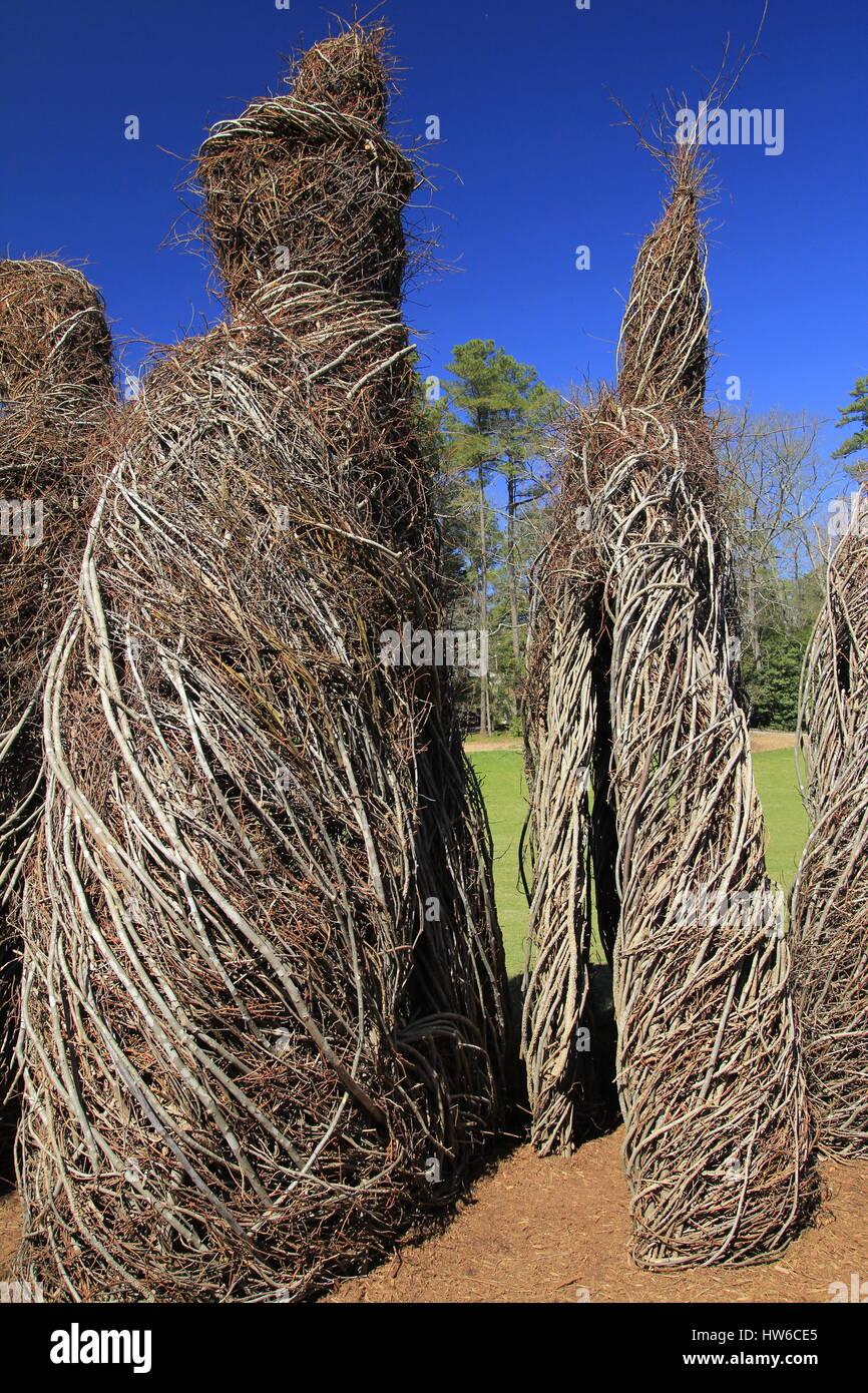 Stick work Art Patrick Dougherty Duke Garden Durham North Carolina