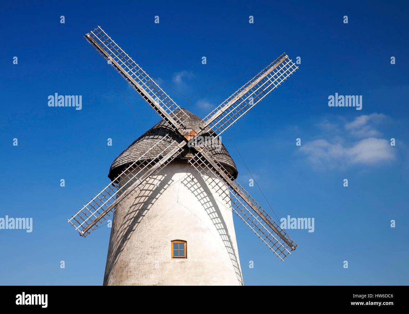 Windmuehle, Enningerloh, Kreis Warendorf, Muensterland, Nordrhein-Westfalen, Deutschland, Europa - Stock Image