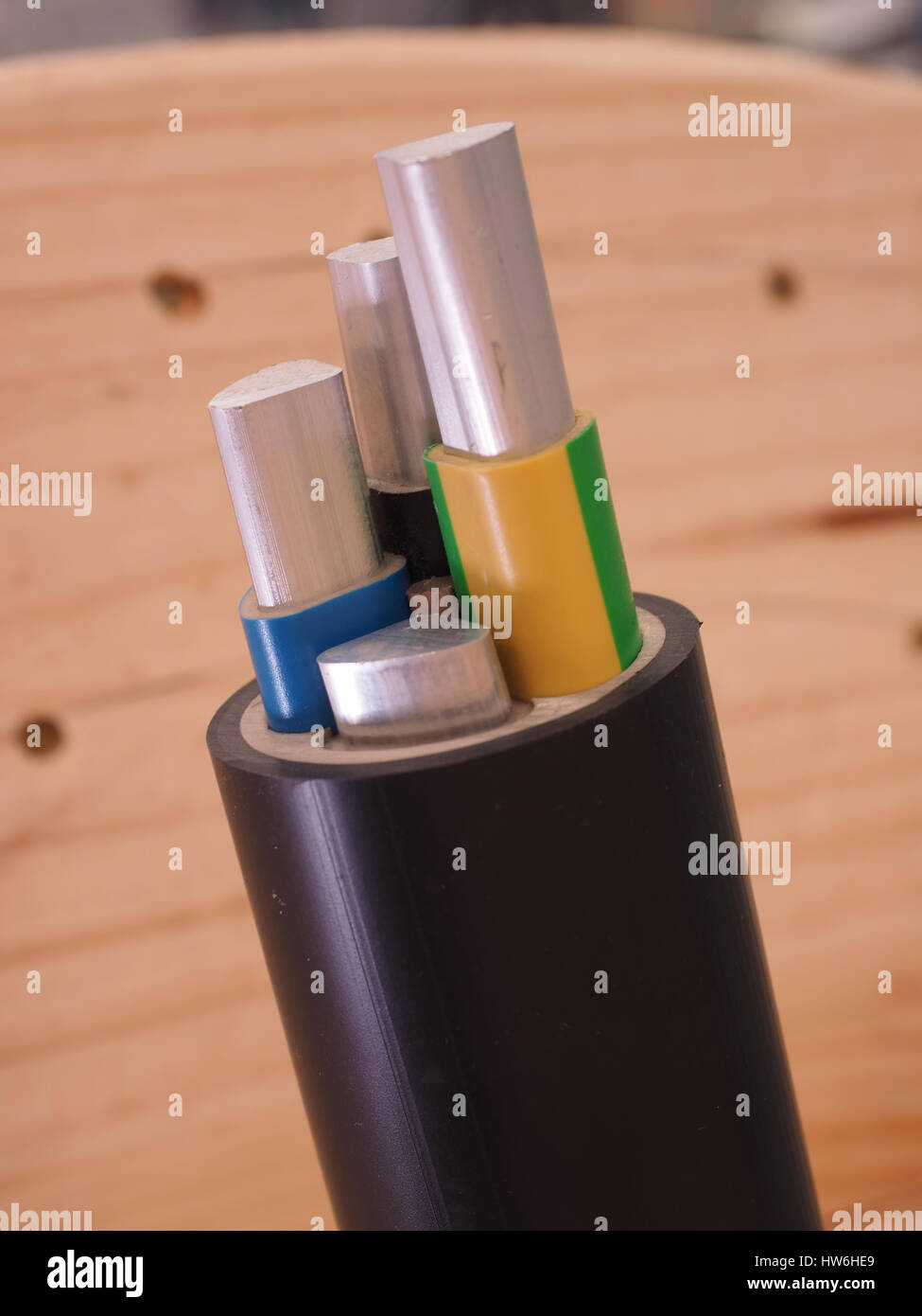 Medium Voltage Sector Cable - Stock Image