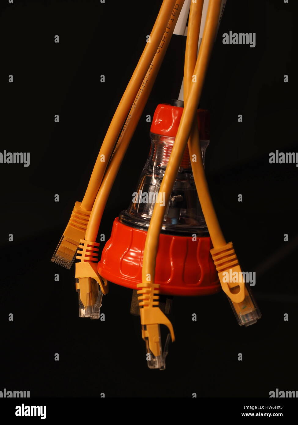 Power and data industrial connection cables - Stock Image
