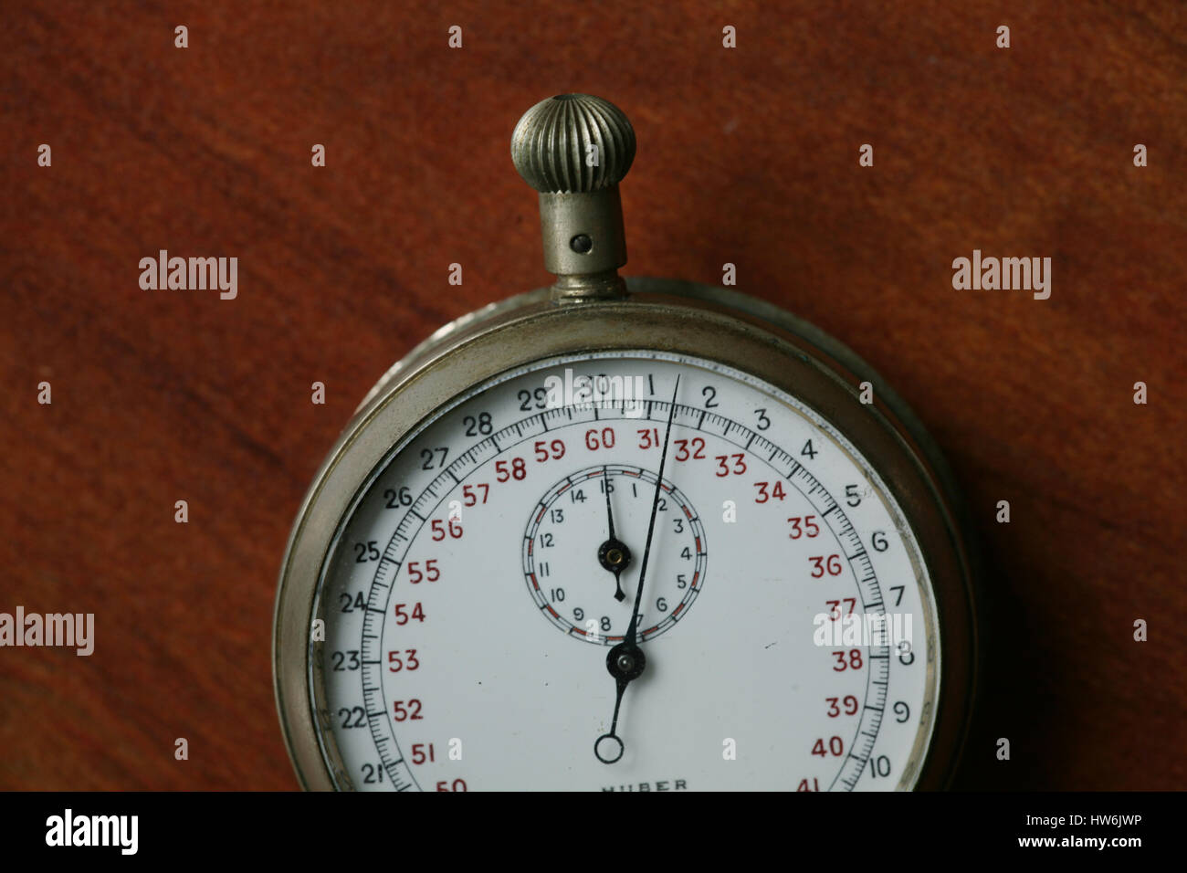 vintage stopwatch - Stock Image