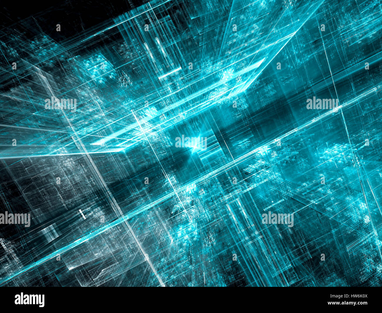 Future city - abstract digitally generated image - Stock Image