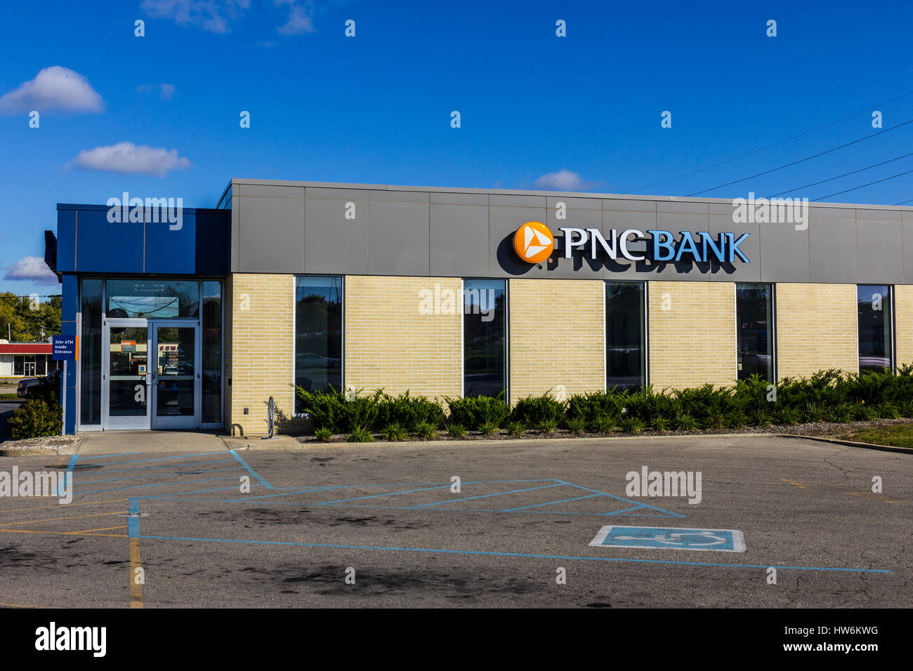 Anderson - Circa October 2016: PNC Bank Branch. PNC Financial Services offers Retail, Corporate and Mortgage Banking - Stock Image