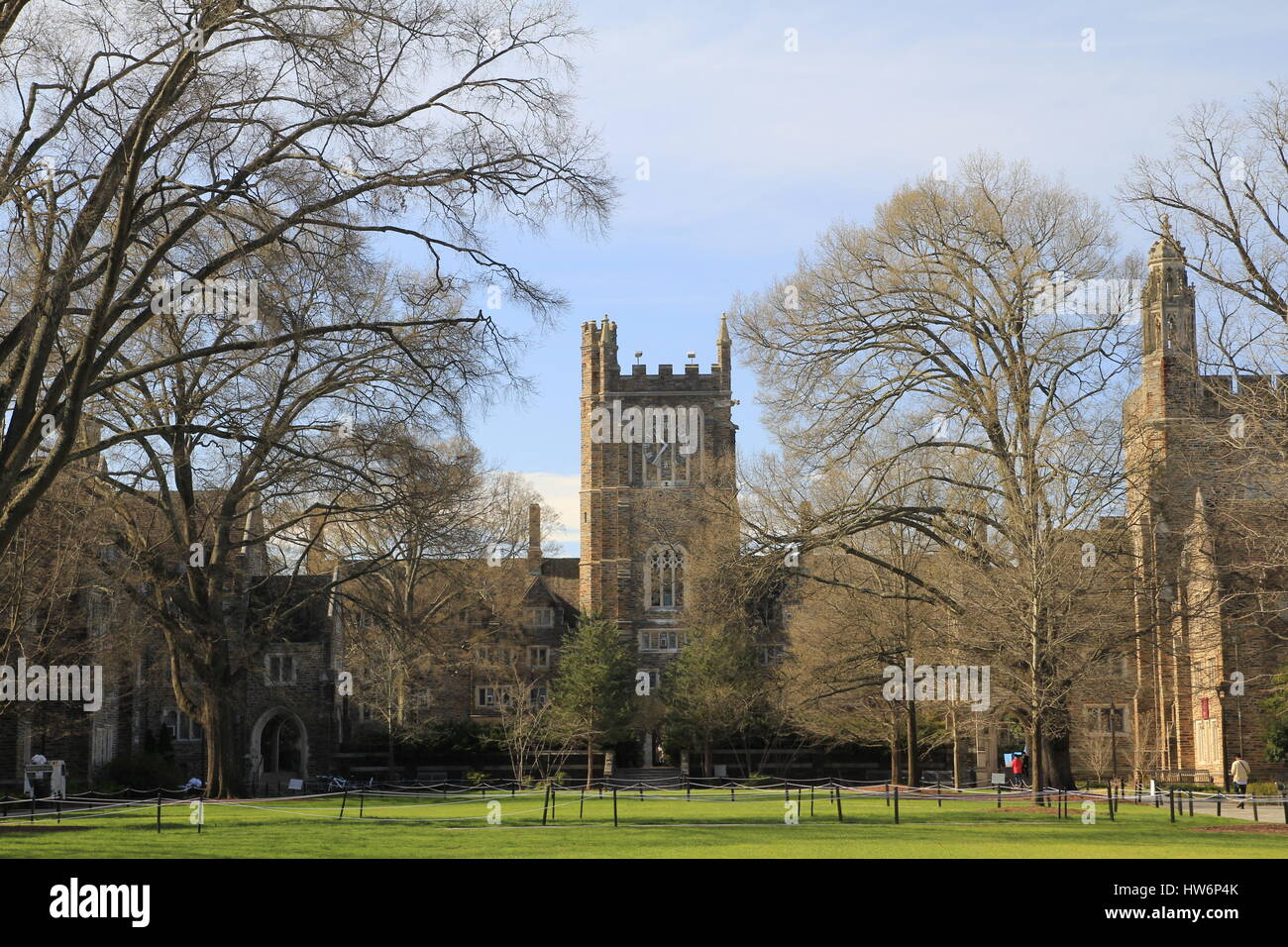 Duke University Campus Buildings Durham North Carolina - Stock Image