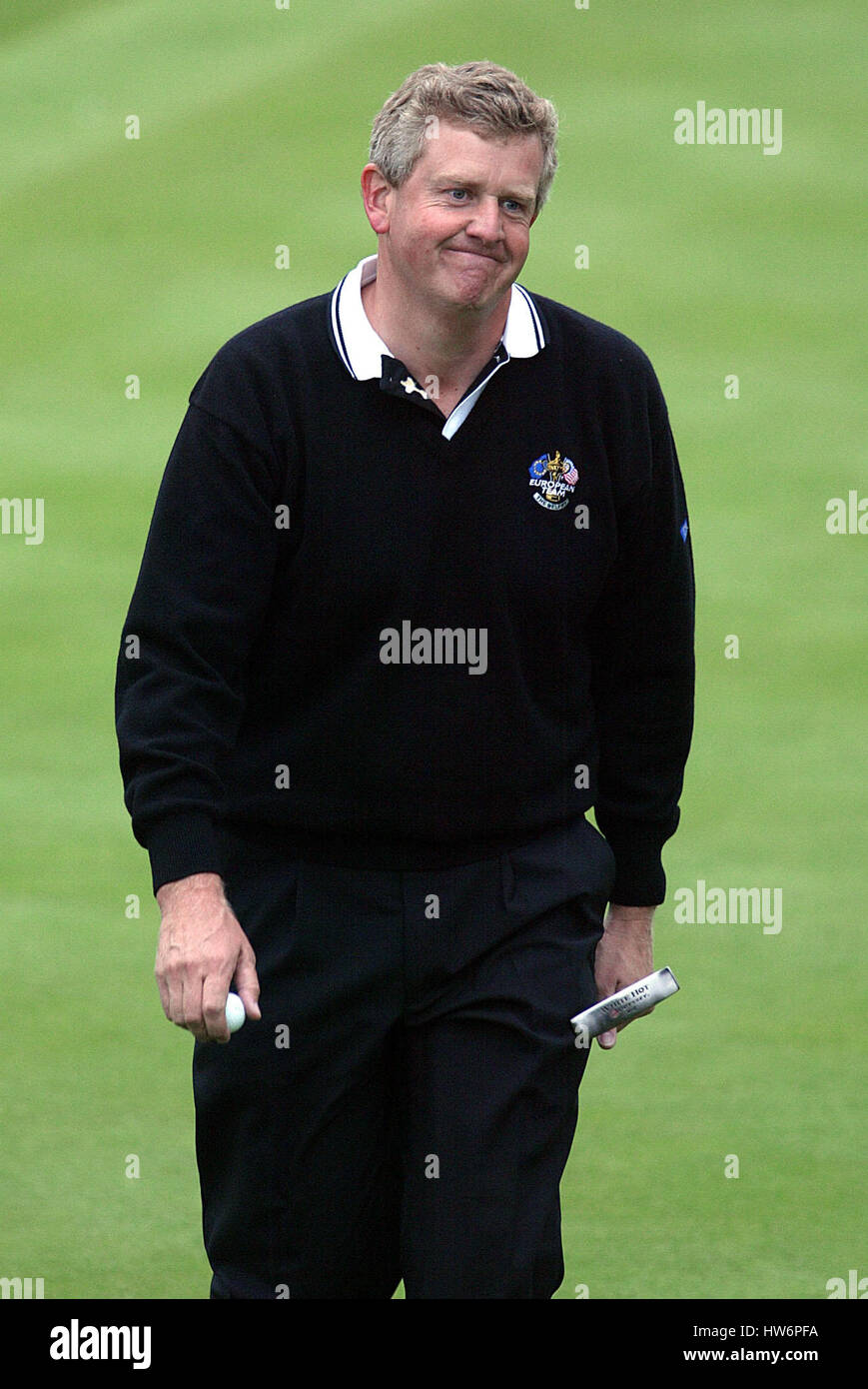 COLIN MONTGOMERIE RYDER CUP 02 10TH GREEN THE BELFRY SUTTON COLDFIELD BIRMINGHAM ENGLAND 28 September 2002 - Stock Image