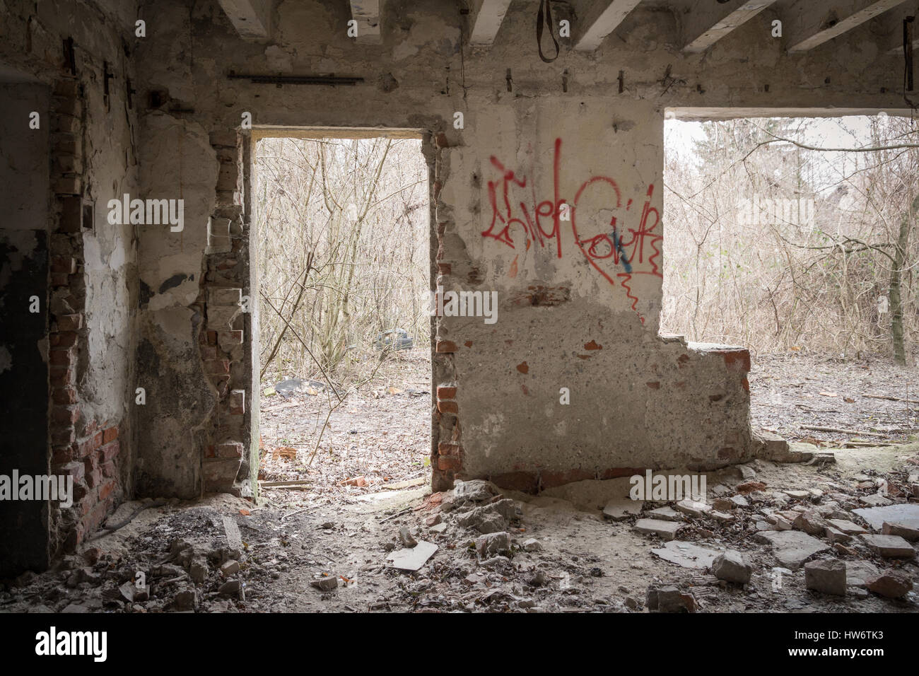 creepy house interior - Stock Image