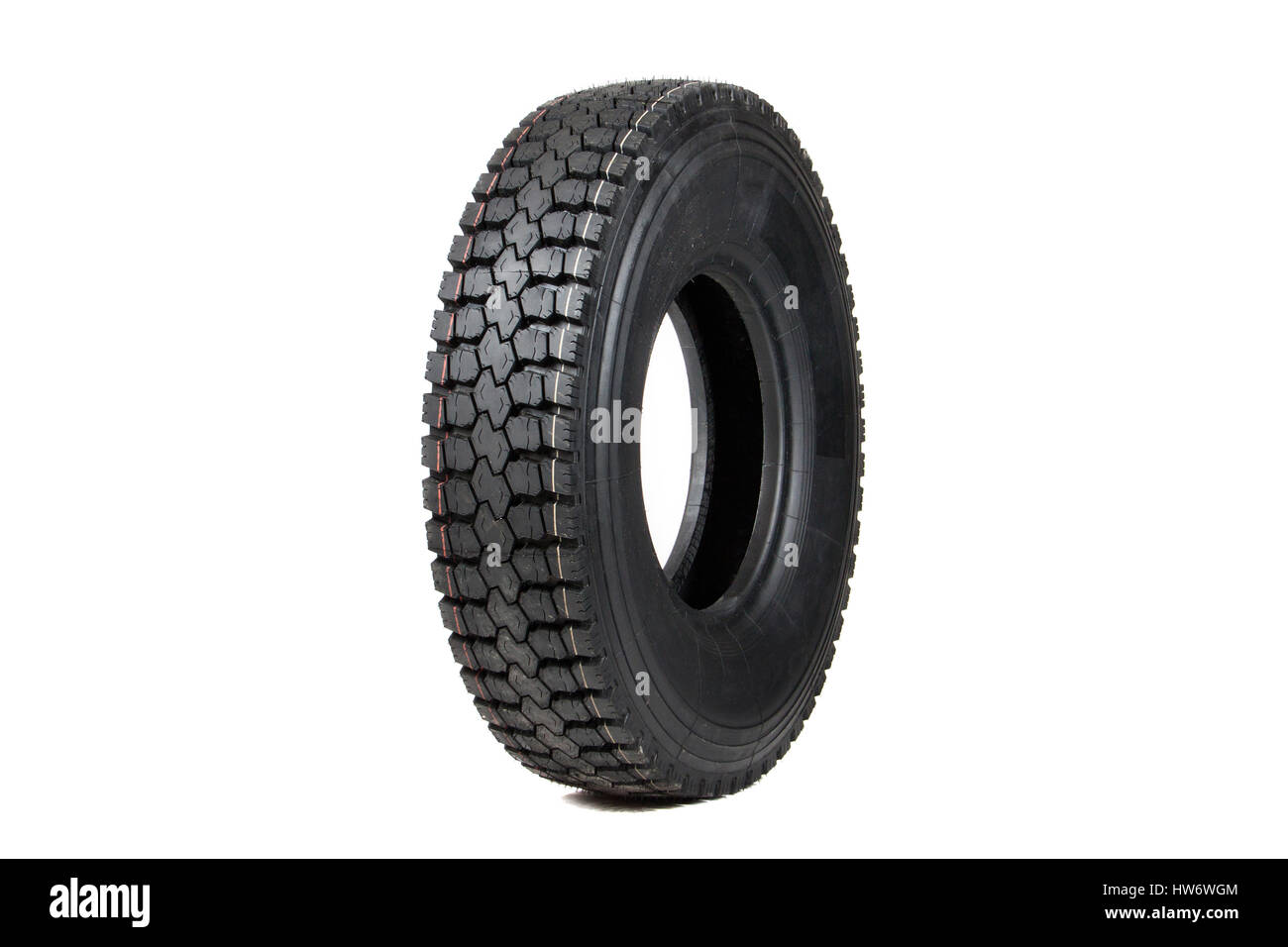 Car tire isolated on white background. Stock Photo