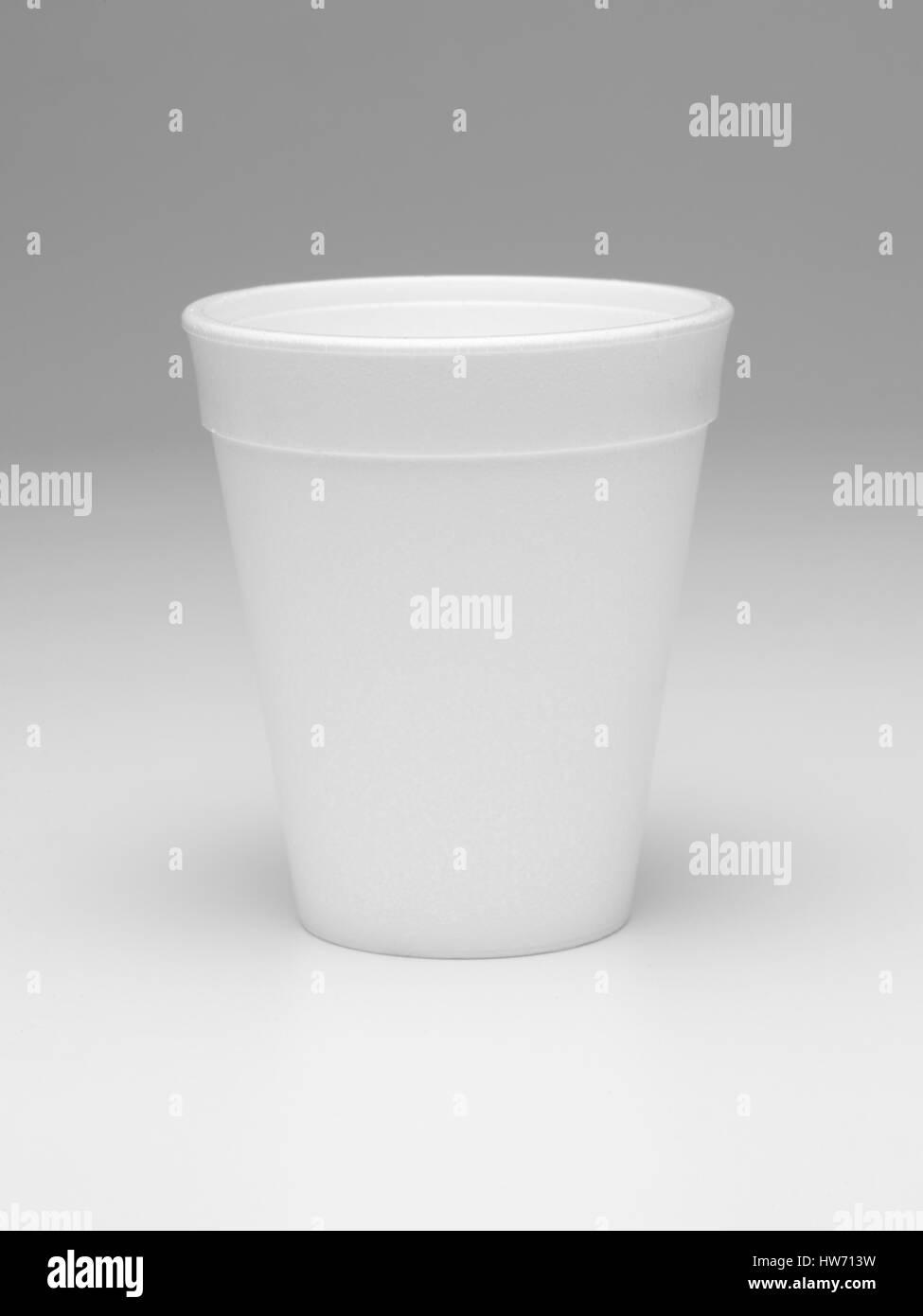 Styrofoam cup isolated Stock Photo