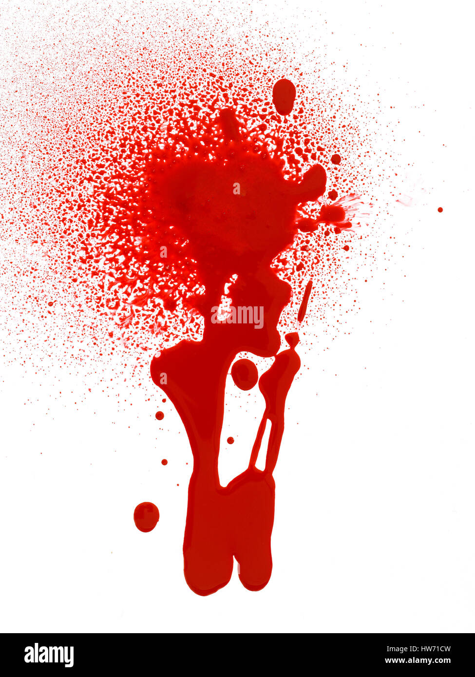 Blood drips and splatter. - Stock Image
