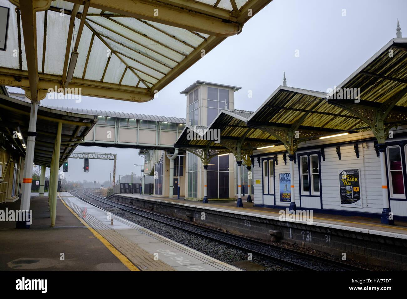 Kettering station, East Midlands, England. - Stock Image
