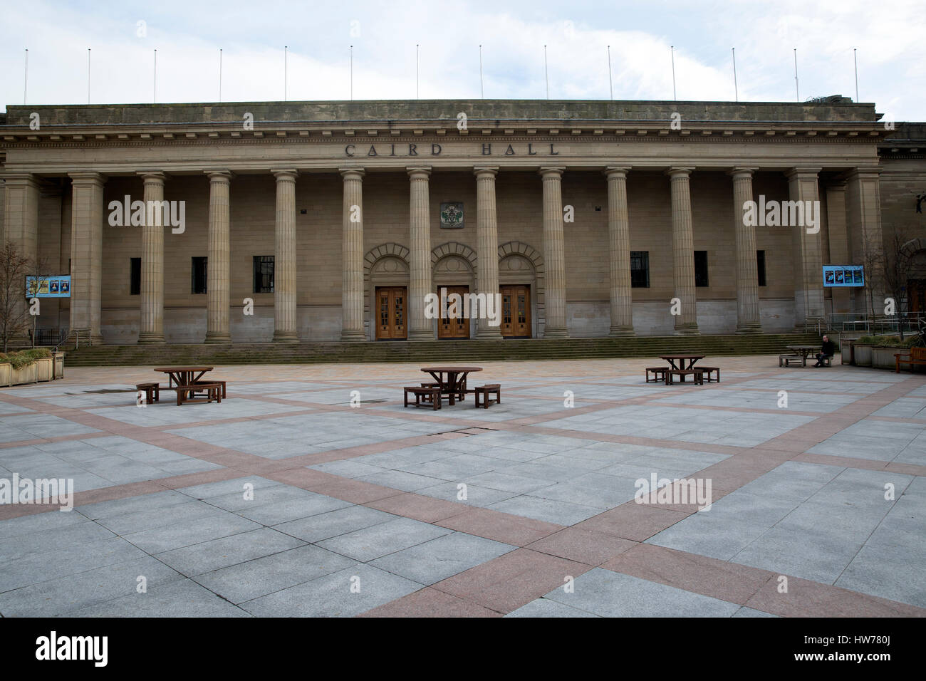 Caird Hall music auditorium in Dundee Scotland - Stock Image