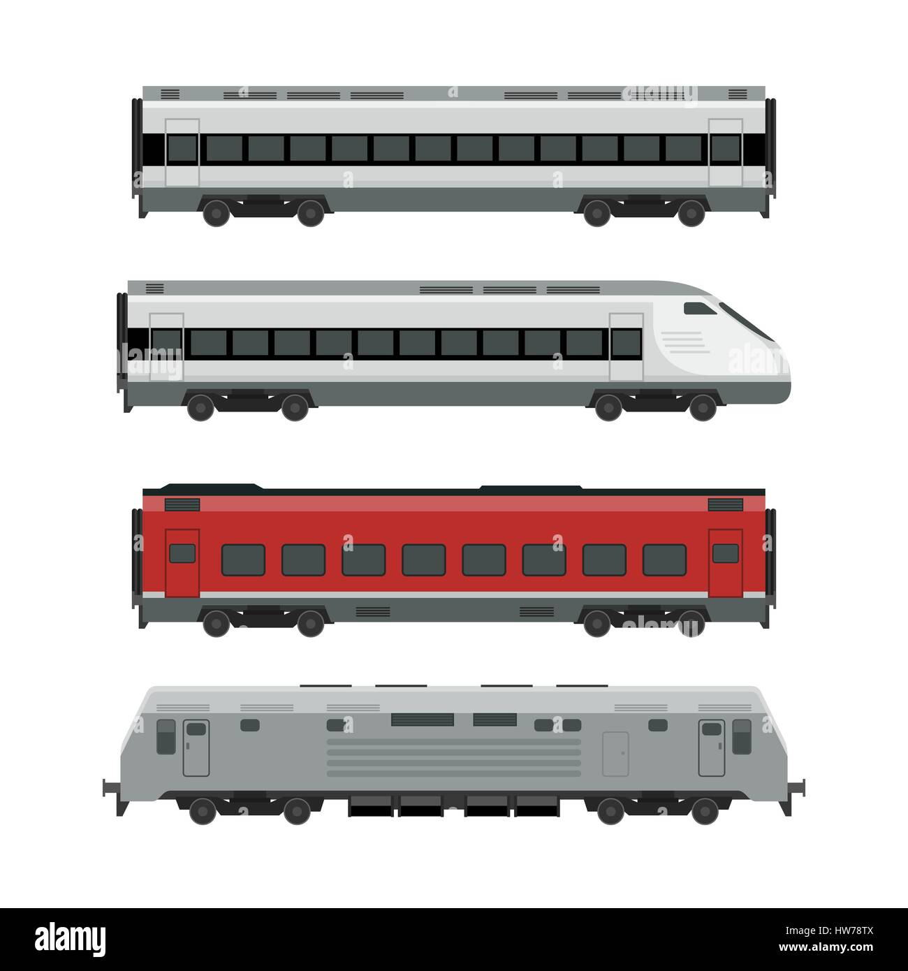 Trains Stock Vector