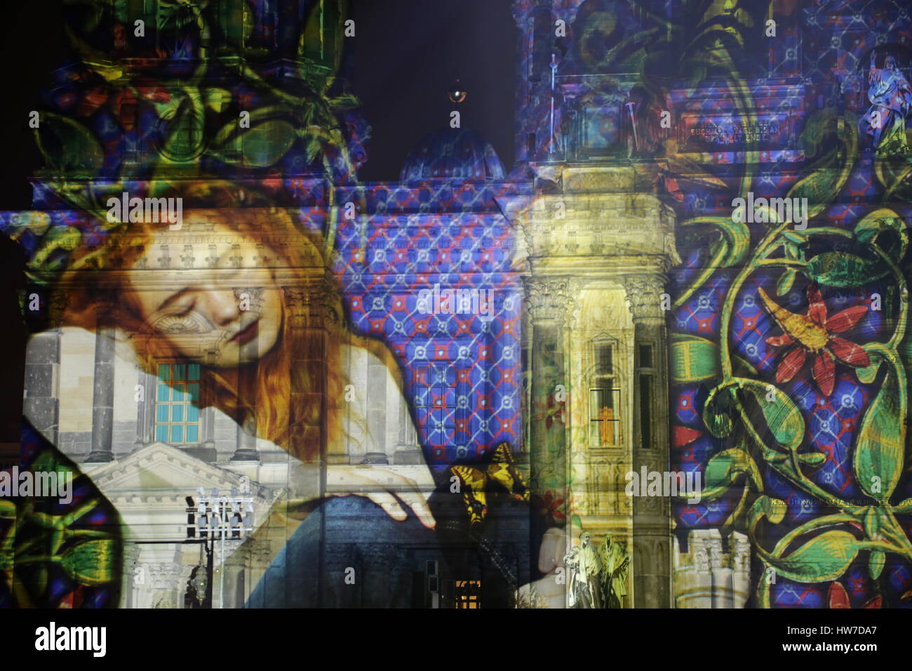 Berlin, Germany, October 12th, 2014: Festival Of Lights takes place in Berlin. - Stock Image