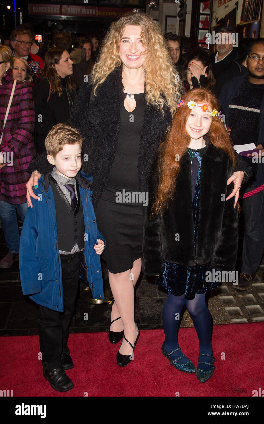 Celebs arriving at the Apollo Theatre for the press night of Tom Stoppard's play Travesties  Featuring: Melanie - Stock Image