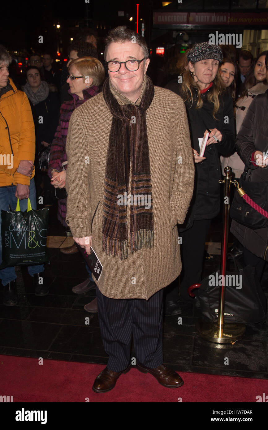 Celebs arriving at the Apollo Theatre for the press night of Tom Stoppard's play Travesties  Featuring: Nathan Lane - Stock Image