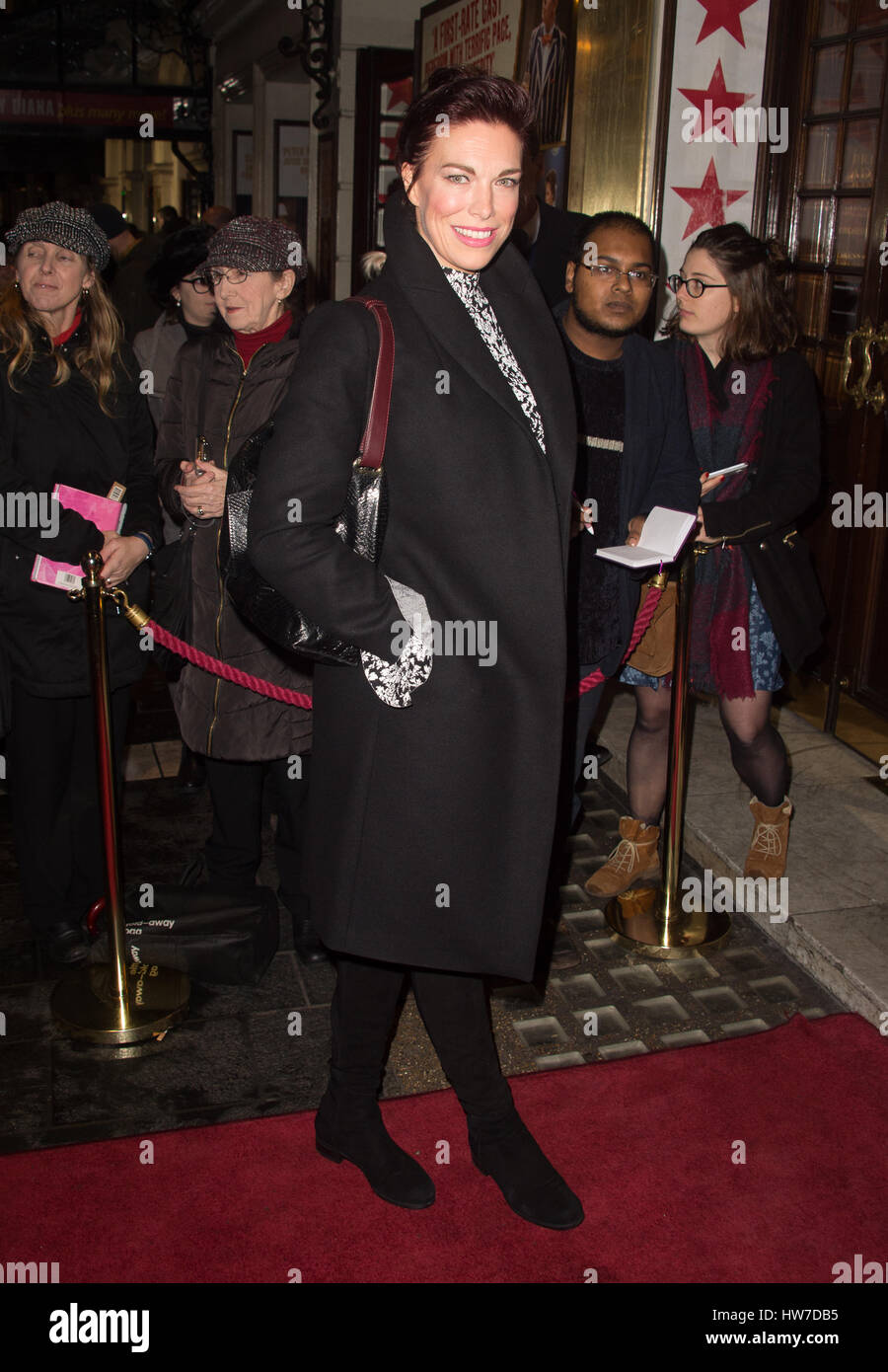 Celebs arriving at the Apollo Theatre for the press night of Tom Stoppard's play Travesties  Featuring: Hannah Waddingham - Stock Image