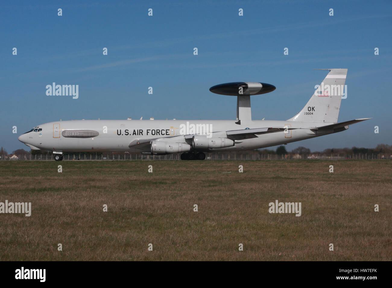 USAF E3 AWACS - Stock Image
