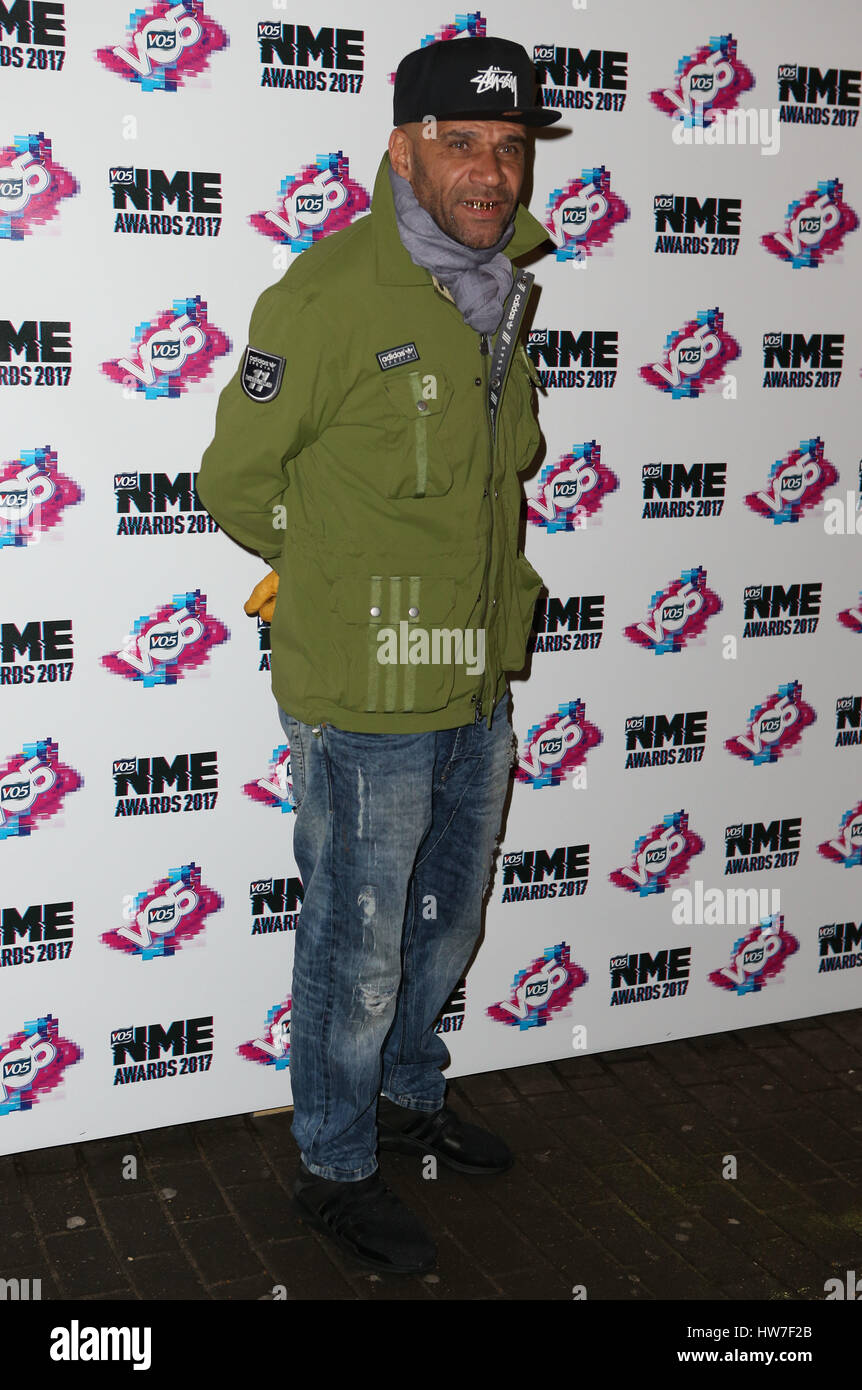 VO5 NME Awards 2017 - Arrivals  Featuring: Goldie Where: London, United Kingdom When: 15 Feb 2017 Stock Photo
