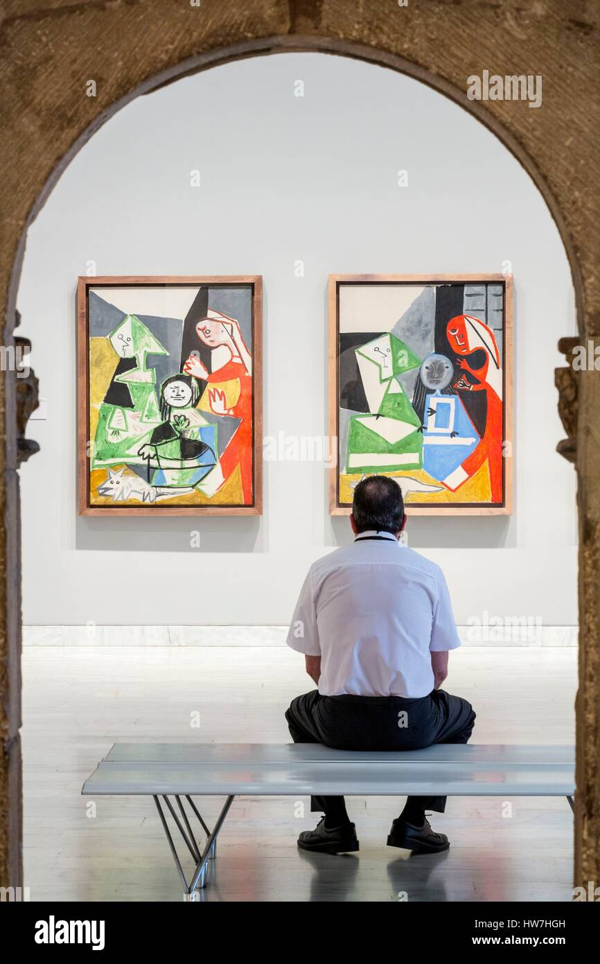 Spain, Catalonia, Barcelona, Old Town, Born, Picasso Museum opened in 1963, paintings by the Spanish artist - Stock Image