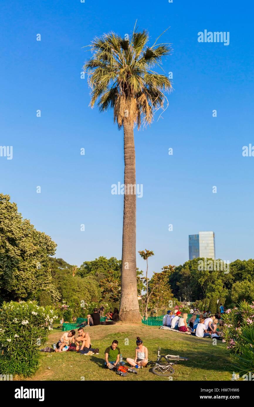 Spain, Catalonia, Barcelona, La Ribera, Ciutadella Park, park founded by Josep FontserΘ for the 1888 universal exhibition - Stock Image