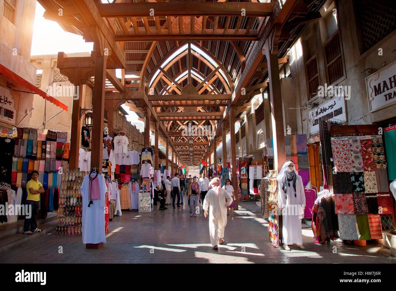 United Arab Emirates, Dubai, Bur Dubai Souq - Stock Image
