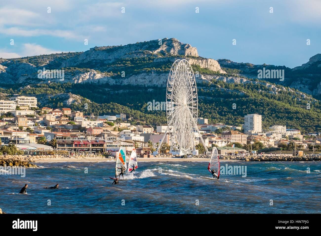 Prado Beaches Marseille Stock Photos Prado Beaches Marseille