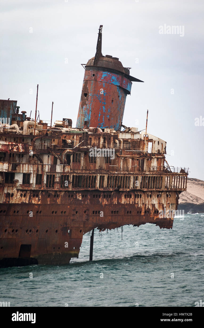 Ss American Star Shipwreck On Fuerteventura Canary