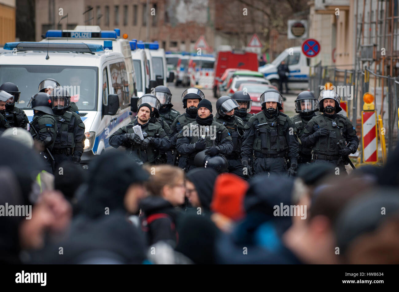 Leipzig, Germany. 18th March, 2017. On the 18th of March, 2016 the EU signed  its deal with Turkey in an attempt - Stock Image
