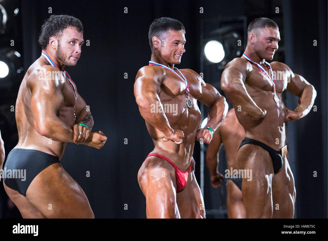 Omsk Russia 18th Mar 2017 Contestants Pose During The Regional Stock Photo Alamy