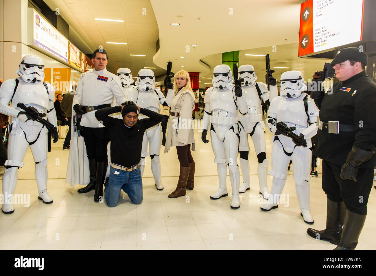 Birmingham NEC, UK. 18 Mar, 2017.  The sci-fi convention, Comic Con, takes place on the 18th and 19th March at the Stock Photo