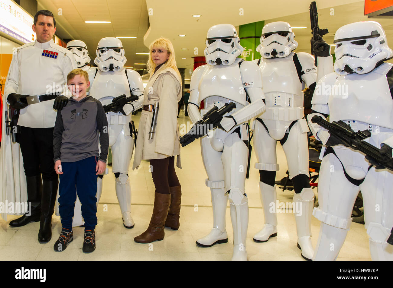 Birmingham NEC, UK. 18 Mar, 2017.  The sci-fi convention, Comic Con, takes place on the 18th and 19th March at the - Stock Image