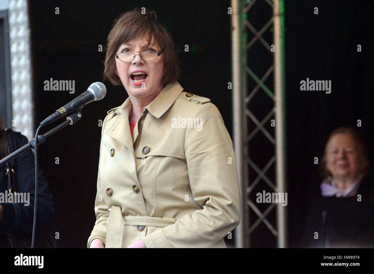 London, UK,  18 March 2017 Frances Lorraine O'Grady the General Secretary of the British Trades Union Congress - Stock Image