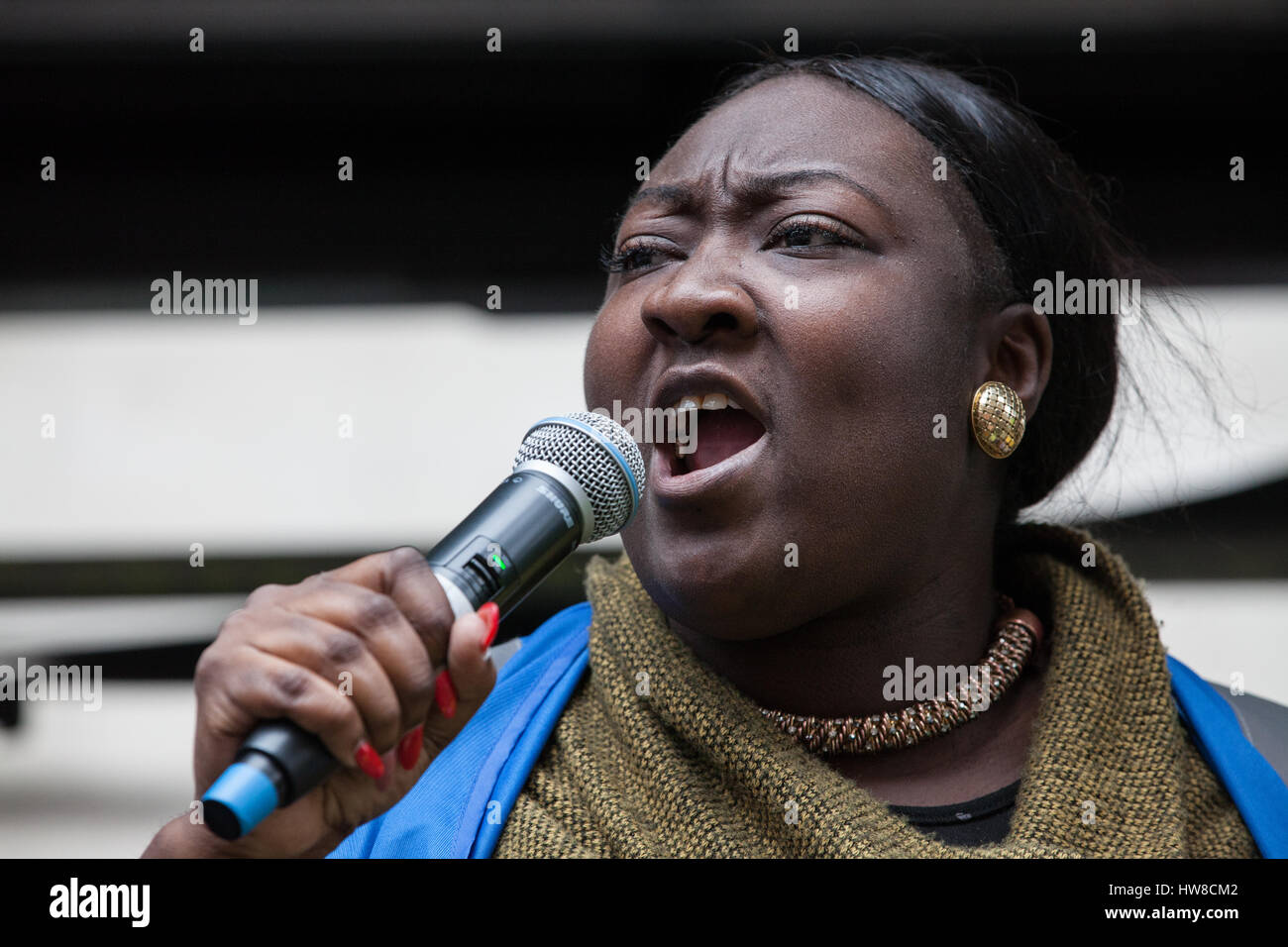 London, UK. 18th March, 2017. Phyll Opoku-Gyimah, co-founder, trustee and executive director of UK Black Pride, Stock Photo