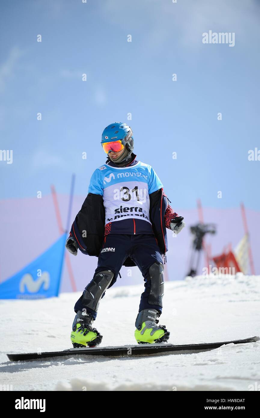 Sierra Nevada, Spain. 16th Mar, 2017. Shinnosuke Kamino (JPN) Snowboarding : Shinnosuke Kamino of Japan in the 2017 Stock Photo