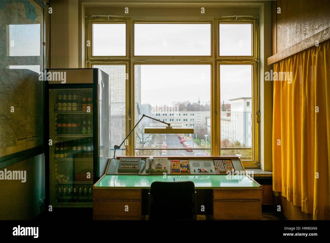 Germany, Berlin, Friendrichshain, Stasi Museum, DDR-era secret police museum in former secret police headquarters, Stock Photo